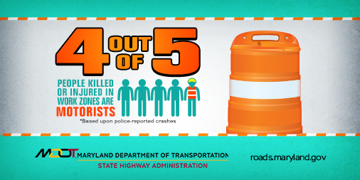 Work Zone Safety 4 out of 5 People