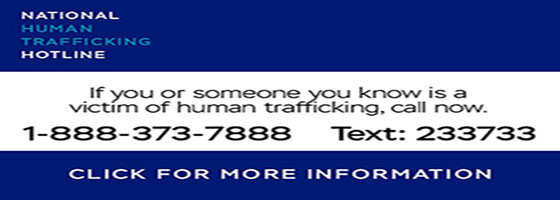 National Human Trafficking Hotline Information