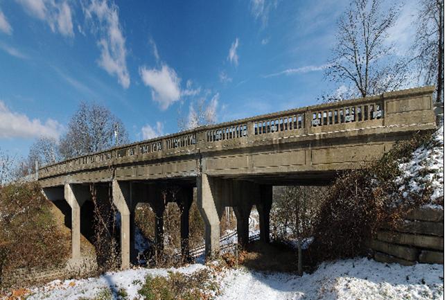 355 Bridge over the CSX Railroad in Frederick County