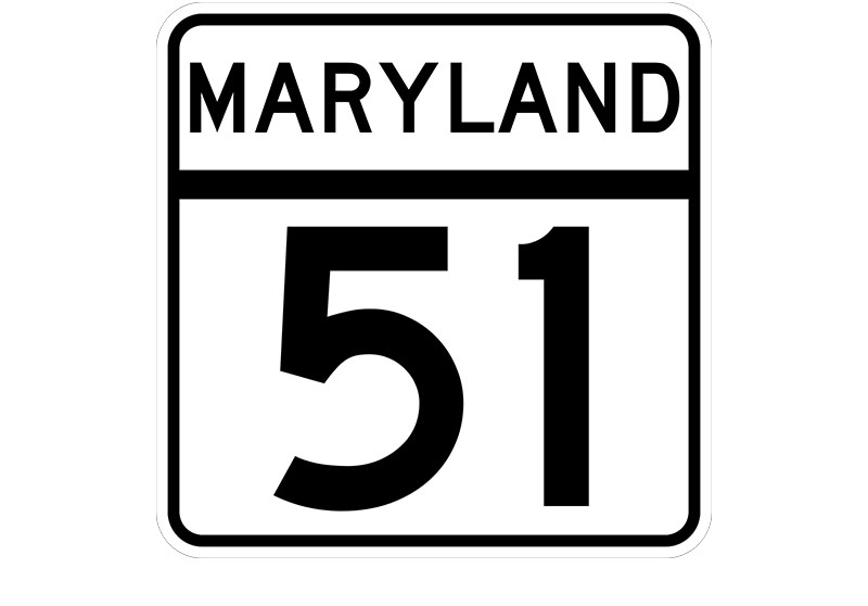 MD 51 sign