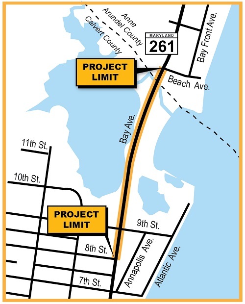 Map of project at MD 261