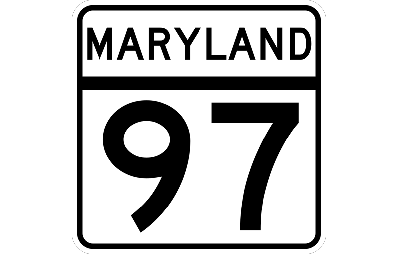 MD 97 sign