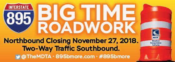 This is Big. I-895 N closure starting Nov. 27.
