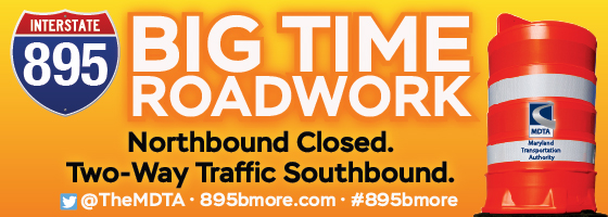 I 895 closure and changing traffic