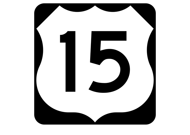 US 15 sign