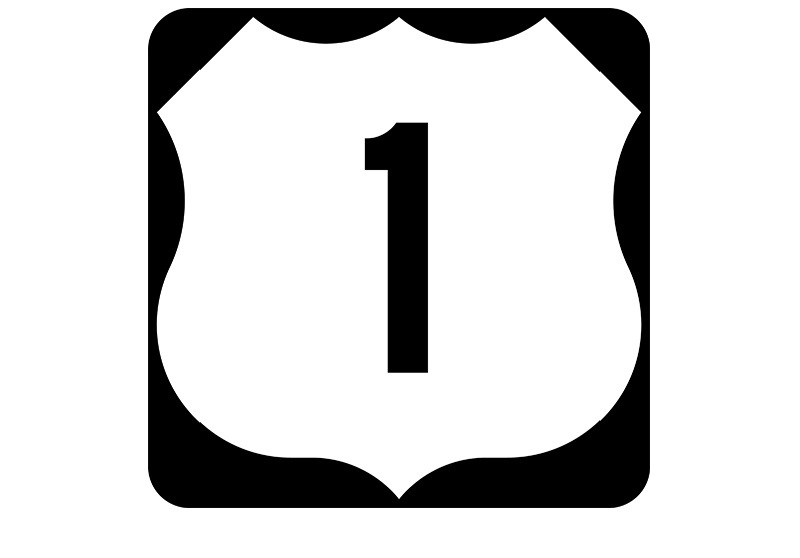US 1 Sign