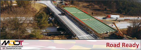 GIS-based listing of major MDOT SHA highway and bridge projects in Maryland.