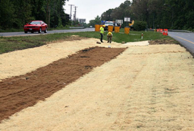 Bio-swale Construction along MD 119 in Montgomery County