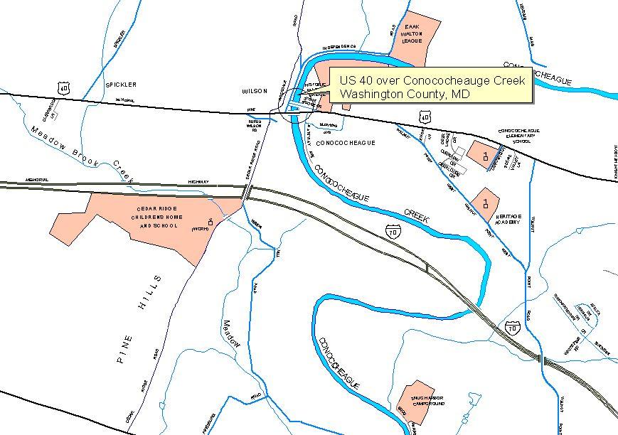 US Route 40 over Conococheague Creek