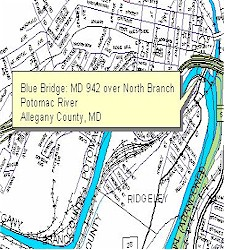 Location map of Blue Bridge